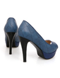 Leatherette Stiletto Heel Sandals Platform Peep Toe shoes (085024322)