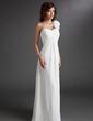 Chiffon One-shoulder Floor-length Empire Bridesmaid Dress