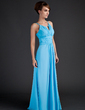 A-Line/Princess Scoop Neck Floor-Length Chiffon Mother of the Bride Dress With Ruffle (008015636)