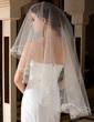 One-tier Waltz Bridal Veils With Cut Edge (006036630)