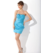 Sheath/Column Sweetheart Short/Mini Satin Cocktail Dress With Ruffle Beading (016021202)