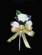 Sweet Free-Form Satin/Cotton Boutonniere (123031424)