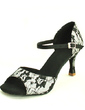 Women's Lace Heels Sandals Latin With Buckle Dance Shoes (053016423)