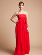 Empire Strapless Floor-Length Chiffon Maternity Bridesmaid Dress With Beading Sequins Bow(s) (045004383)