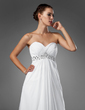 Empire Sweetheart Sweep Train Chiffon Wedding Dress With Ruffle Beading (002004156)