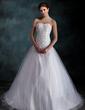 Balo Elbisesi Kalp Kesimli Kısa Kuyruk Taffeta Tulle Gelinlik Ile Büzgü Lace Boncuklama (002000160)