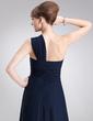 A-Line/Princess One-Shoulder Floor-Length Chiffon Evening Dress With Split Front Cascading Ruffles (017020679)