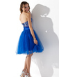 A-Line/Princess Sweetheart Knee-Length Tulle Homecoming Dress With Ruffle Lace Beading (022010414)