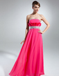Empire Strapless Floor-Length Chiffon Prom Dress With Beading Cascading Ruffles (018015517)