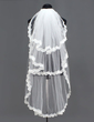 Three-tier Fingertip Bridal Veils With Lace Applique Edge (006005391)