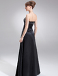 A-Line/Princess Strapless Floor-Length Satin Mother of the Bride Dress With Ruffle Beading (008003186)
