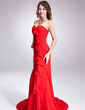 Trumpet/Mermaid Sweetheart Court Train Chiffon Evening Dress With Cascading Ruffles (017022525)