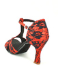 Women's Lace Heels Sandals Latin With T-Strap Dance Shoes (053057177)