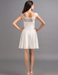 A-Line/Princess Scoop Neck Short/Mini Jersey Homecoming Dress (022053553)