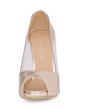 Women's Patent Leather Stiletto Heel Sandals Platform Peep Toe shoes (085026360)