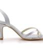 Women's Satin Stiletto Heel Sandals With Buckle (047039654)