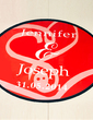 Personalized Embracing Hearts PVC Dance Floor Decals (118033744)