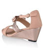 Leatherette Wedge Heel Sandals Peep Toe With Bowknot shoes (087033701)