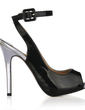 Patent Leather Stiletto Heel Sandals Peep Toe Slingbacks With Buckle shoes (087016972)