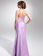 Sheath/Column Halter Floor-Length Satin Evening Dress With Beading (020015064)