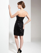 Sheath/Column Strapless Short/Mini Sequined Cocktail Dress With Ruffle (016008699)