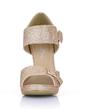 Sparkling Glitter Stiletto Heel Sandals Platform Peep Toe With Buckle shoes (085022636)