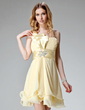 A-Line/Princess One-Shoulder Short/Mini Chiffon Homecoming Dress With Ruffle Beading (022004400)
