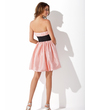 Empire Sweetheart Short/Mini Taffeta Homecoming Dress With Sash Beading Appliques Lace (022010300)