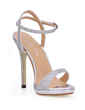 Women's Sparkling Glitter Stiletto Heel Sandals Slingbacks With Buckle (047017921)