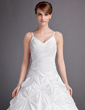 Ball-Gown Sweetheart Chapel Train Taffeta Wedding Dress With Ruffle (002012131)