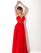 A-Line/Princess Sweetheart Floor-Length Chiffon Evening Dress With Beading Flower(s) (017020922)