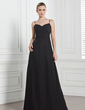 A-Line/Princess Sweetheart Watteau Train Chiffon Bridesmaid Dress With Ruffle (007001854)