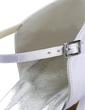 Saten Makara Topuk Kapalı Parmak Bağcıksız Düğün Ayakkabıları Ile Toka (047011058)