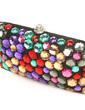 Fashional Satin With Crystal/ Rhinestone Clutches (012028196)
