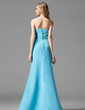 A-Line/Princess Sweetheart Floor-Length Satin Bridesmaid Dress With Ruffle (007001046)