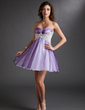 Empire Sweetheart Short/Mini Tulle Homecoming Dress With Ruffle Beading Appliques Lace (022016733)