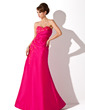 A-Line/Princess Sweetheart Floor-Length Taffeta Mother of the Bride Dress With Ruffle Lace Beading (008013948)