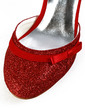 Women's Sparkling Glitter Stiletto Heel Closed Toe Sandals With Bowknot Buckle (047039439)