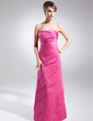A-Line/Princess Strapless Floor-Length Satin Mother of the Bride Dress With Ruffle Bow(s) (008015856)