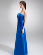 A-Line/Princess Strapless Floor-Length Satin Mother of the Bride Dress With Ruffle Lace Beading (008002217)