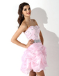 A-Line/Princess Sweetheart Short/Mini Organza Homecoming Dress With Beading (022010550)