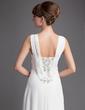 Linia A/Księżniczka Dekolt w Serek Asymetryczna Chiffon Suknia dla Mamy Panny Młodej (008005972)