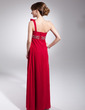 Empire One-Shoulder Floor-Length Chiffon Evening Dress With Ruffle Beading (017014686)