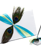 Peacock Feather Feather Guestbook & Pen Set (101037367)