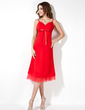 Empire Sweetheart Knee-Length Chiffon Bridesmaid Dress With Ruffle Bow(s) (007021073)