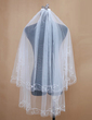 Two-tier Fingertip Bridal Veils With Cut Edge (006034199)