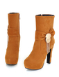 Suede Chunky Heel Ankle Boots With Sequin shoes (088054455)