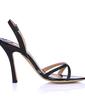 Leatherette Stiletto Heel Slingbacks Sandals (087015261)