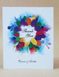 Personalized Floral Design Hard Card Paper Thank You Cards (Set of 50) (118029362)