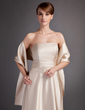 A-Line/Princess Strapless Floor-Length Charmeuse Bridesmaid Dress With Ruffle (007000902)